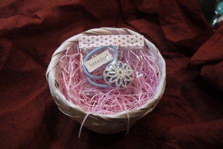 手編みレーシーヘアゴム(1つ入)4