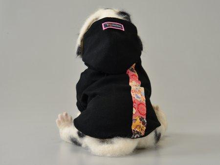 犬服-フード付きトレーナー和柄 size M