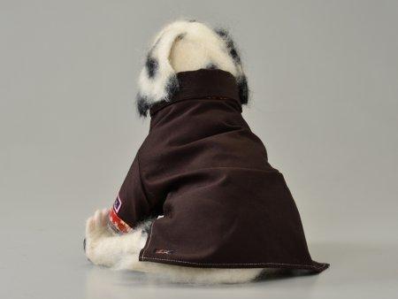 犬服-和シャツ(ダークブラウン)size S
