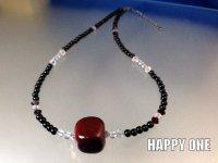 ベネチアンガラス(赤玉)ネックレス