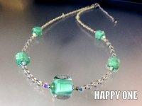 ベネチアンガラス(エメラルドグリーン)ネックレス