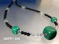 ベネチアンガラス(グリーン)ネックレス