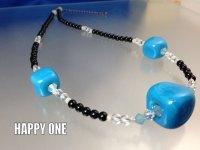 ベネチアンガラス(ターコイズブルー)ネックレス