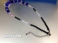 ベネチアンガラス(パープル)ネックレス