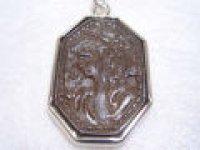 silver950 リモナイト彫刻・ペンダント