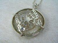 silver950 ベネチアンガラス&butterflyペンダント