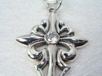 silver925 クロスのペンダント*ジルコニア*