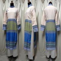 ターイ族手織り生地コンビのアオザイ SIZE M