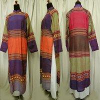 ターイ族手織り生地のアオザイ SIZE XL