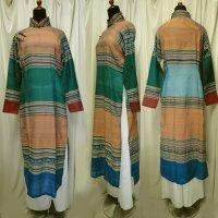 ターイ族手織り生地のアオザイ2 SIZE XL