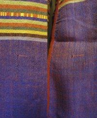 訳あり、ターイ族手織り生地コンビのアオザイ5 SIZE XL