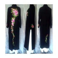 正統派刺繍のブラックアオザイ SIZE 4XL